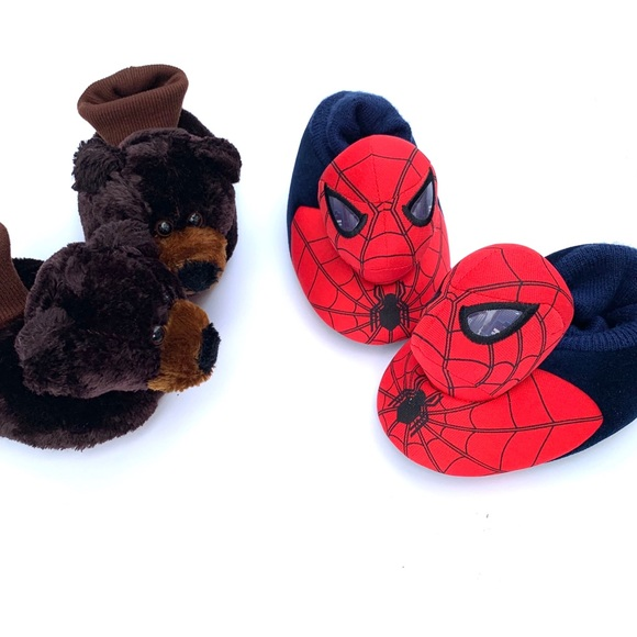 Marvel Other - Spider-Man & Teddy Bear House Shoes
